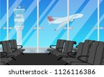 departure waiting hall in the... | Shutterstock .eps vector #1126116386