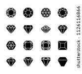 brilliant shapes. diamonds... | Shutterstock .eps vector #1126116866