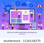web and mobile application... | Shutterstock .eps vector #1126118270
