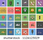 vector public transport icons.... | Shutterstock .eps vector #1126125029