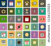 set of time vector icons. timer ... | Shutterstock .eps vector #1126125323