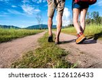close up of lower legs of...   Shutterstock . vector #1126126433