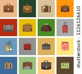 case icons variants of... | Shutterstock .eps vector #1126126610