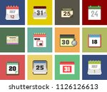 calendar isolated flat web... | Shutterstock .eps vector #1126126613