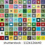 flat design education  school... | Shutterstock .eps vector #1126126640