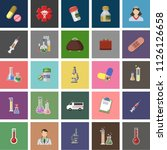 set vector icons  sign and... | Shutterstock .eps vector #1126126658