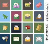 message icon  envelope... | Shutterstock .eps vector #1126126673
