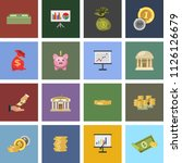 vector money investment icons   ... | Shutterstock .eps vector #1126126679