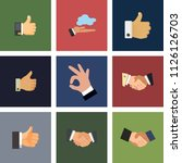 vector hand illustrations  ... | Shutterstock .eps vector #1126126703