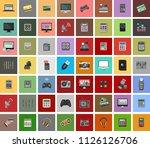 set vector icons in flat design ... | Shutterstock .eps vector #1126126706