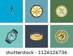 vintage nautical or marine wind ... | Shutterstock .eps vector #1126126736