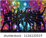 dancing people silhouettes....   Shutterstock .eps vector #1126133519