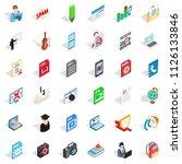 compendium icons set. isometric ... | Shutterstock . vector #1126133846