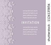 invitation or card templates...   Shutterstock .eps vector #1126135856