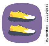jogging sneakers used to jog...   Shutterstock .eps vector #1126140866