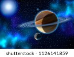 the cosmic landscape consisting ... | Shutterstock . vector #1126141859