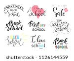 set of welcome back to school... | Shutterstock .eps vector #1126144559