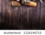different kinds of bread and... | Shutterstock . vector #1126146713