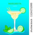 classic margarita. popular... | Shutterstock .eps vector #1126151000