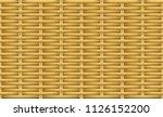 seamless brown weave rattan... | Shutterstock .eps vector #1126152200