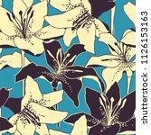 seamless vector retro pattern... | Shutterstock .eps vector #1126153163