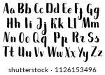 handwritten brush pen letters.... | Shutterstock .eps vector #1126153496