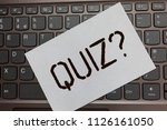 text sign showing quiz question.... | Shutterstock . vector #1126161050
