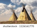 three teepees  also called... | Shutterstock . vector #1126161770