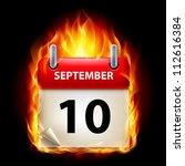 tenth september in calendar.... | Shutterstock .eps vector #112616384