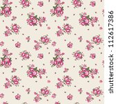ditsy floral seamless pattern... | Shutterstock . vector #112617386