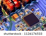 electronic circuit board close...   Shutterstock . vector #1126176533