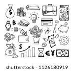 hand drawn vector illustrations ... | Shutterstock .eps vector #1126180919