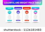bright vector price table for...   Shutterstock .eps vector #1126181483