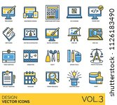 design flat vector icons. web ... | Shutterstock .eps vector #1126183490