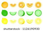 citrus set  orange lime... | Shutterstock .eps vector #1126190930