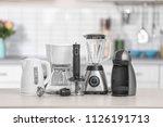 different modern kitchen... | Shutterstock . vector #1126191713