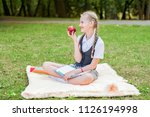 student happy smiling with... | Shutterstock . vector #1126194998