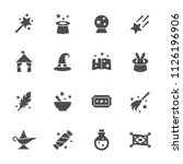 magic icon set | Shutterstock .eps vector #1126196906