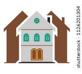 vector skyscraper building icon ... | Shutterstock .eps vector #1126201304