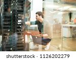 network administrator with... | Shutterstock . vector #1126202279