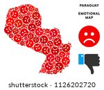 sorrow paraguay map mosaic of... | Shutterstock .eps vector #1126202720