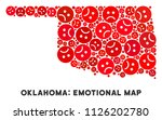 sorrow oklahoma state map... | Shutterstock .eps vector #1126202780