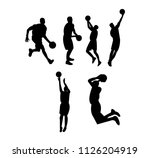basketball playing poses | Shutterstock .eps vector #1126204919