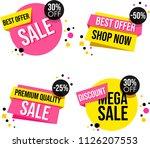 modern sale banner | Shutterstock . vector #1126207553