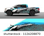 truck decal  cargo van and car... | Shutterstock .eps vector #1126208870