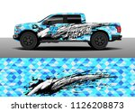 truck decal  cargo van and car... | Shutterstock .eps vector #1126208873