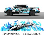 truck decal  cargo van and car... | Shutterstock .eps vector #1126208876