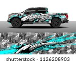 truck decal  cargo van and car... | Shutterstock .eps vector #1126208903
