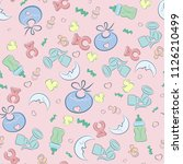 children's print on the subject ... | Shutterstock .eps vector #1126210499