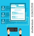 social network vector concept.... | Shutterstock .eps vector #1126212533